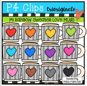 P4 RAINBOW Sweater Mugs (P4 Clips Trioriginals Clip Art)