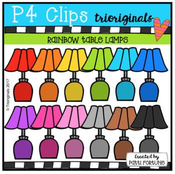 P4 RAINBOW Table Lamps (P4 Clips Trioriginals Clip Art)