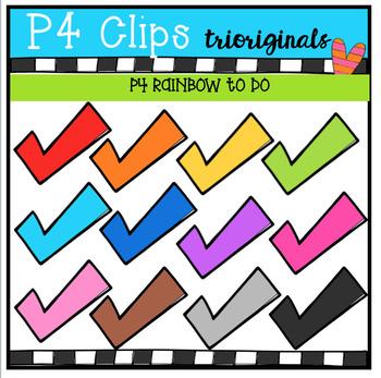 P4 RAINBOW To Do (P4 Clips Trioriginals Clip Art)