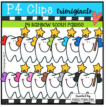 P4 RAINBOW Tooth Fairies (P4 Clips Trioriginals Clip Art)