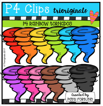 P4 RAINBOW Tornados (P4 Clips Trioriginals Clip Art)