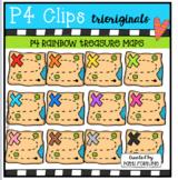 P4 RAINBOW Treasure Maps (P4 Clips Trioriginals Clip Art)