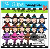 P4 RAINBOW Witches (P4 Clips Trioriginals Digital Clip Art)