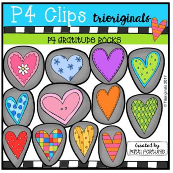 P4 ROCKS With Gratitude (P4 Clips Trioriginals Clip Art)