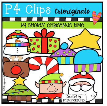 P4 SHORTY Christmas Time (P4 Clips Trioriginals Digital Clip Art)
