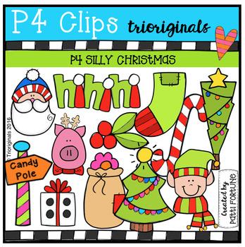 P4 SILLY Christmas (P4 Clips Trioriginals Digital Clip Art)