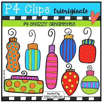 P4 SNAZZY Christmas Ornaments (P4 Clips Trioriginals)