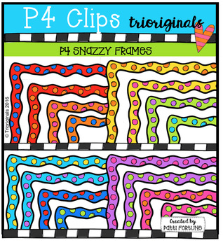 (50% OFF) P4 SNAZZY Frames (P4 Clips Trioriginals Digital Clip Art)