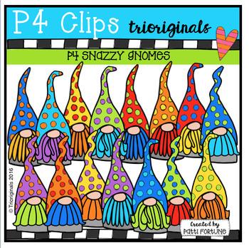 P4 SNAZZY Gnomes (P4 Clips Triorignals Digital Clip Art)