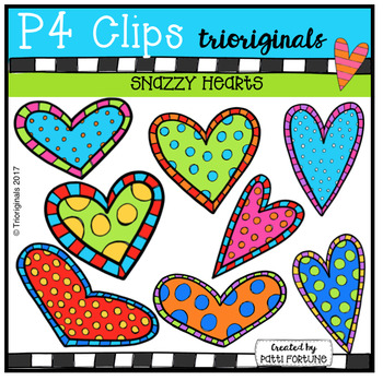 P4 SNAZZY Hearts (P4 Clips Trioriginals Clip Art)