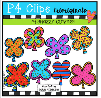 P4 SNAZZY Shamrocks (P4 Clips Trioriginals Clip Art)