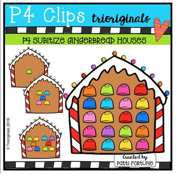 P4 SUBITIZE Gingerbread House (P4 Clips Trioriginals )