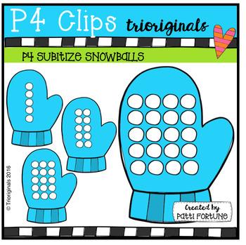 P4 SUBITIZE Snowballs / Mittens (P4 Clips Trioriginals )