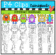 P4 SYMMETRY Monsters (P4 Clips Trioriginals Clip Art)