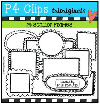 P4 Scallop Frames (P4 Clips Trioriginals Clip Art)