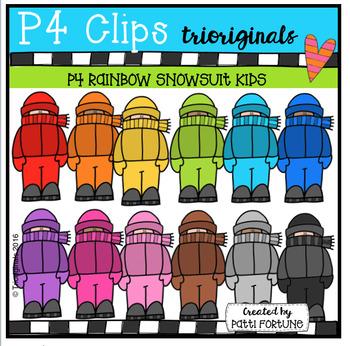 P4 Snow KIDS Standing (P4 Clips Trioriginals Digital Clip Art)