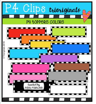 P4 TOPPERS Colors (P4 Clips Trioriginals Digital Clip Art)