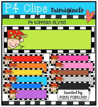 P4 TOPPERS Elves (P4 Clips Trioriginals Digital Clip Art)