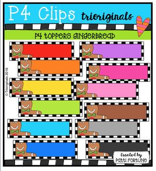 P4 TOPPERS Gingerbread (P4 Clips Trioriginals Digital Clip Art)