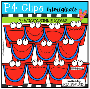 P4 WACKY Buckets (P4 Clips Trioriginals Clip Art)