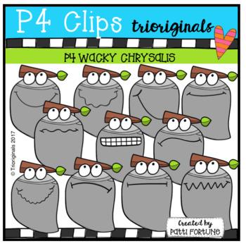 P4 WACKY Chrysalis (P4 Clips Trioriginals Clip Art)
