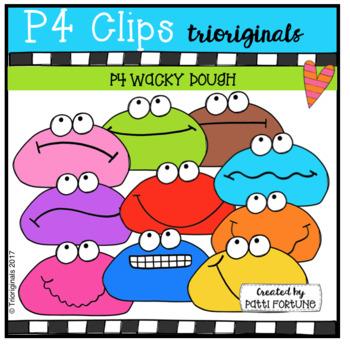 P4 WACKY Dough  (P4 Clips Trioriginals Clip Art)