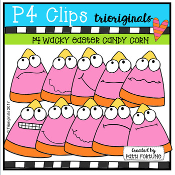 P4 WACKY Easter Candy Corn (P4 Clips Trioriginals Clip Art)