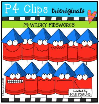 P4 WACKY Fireworks (P4 Clips Trioriginals Clip Art)