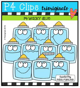 P4 WACKY Glue (P4 Clips Trioriginals Digital Clip Art)