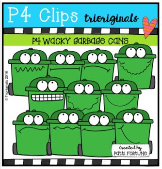 (50% OFF) P4 WACKY Green Bins ( P4 Clips Trioriginals Clip Art)