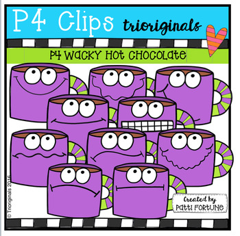 P4 WACKY Hot Chocolate (P4 Clips Trioriginals Digital Clip Art)