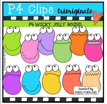 P4 WACKY Jelly Beans (P4 Clips Trioriginals Clip Art)