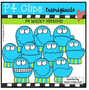 P4 WACKY Mittens (P4 Clips Trioriginals Digital Clip Art)