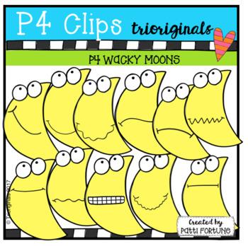 P4 WACKY Moons (P4 Clips Trioriginals Clip Art)