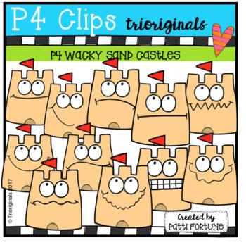 P4 WACKY Sand Castles (P4 Clips Trioriginals Clip Art)