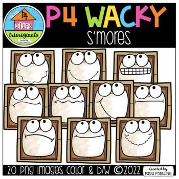 P4 WACKY Smores (P4 Clips Trioriginals Digital Clipart)
