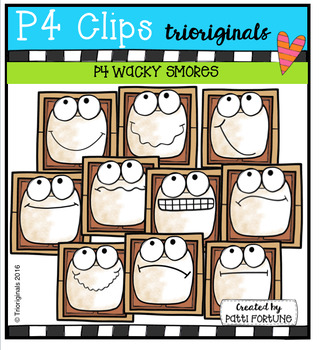 P4 WACKY Smores (P4 Clips Trioriginals Digital Clipart)