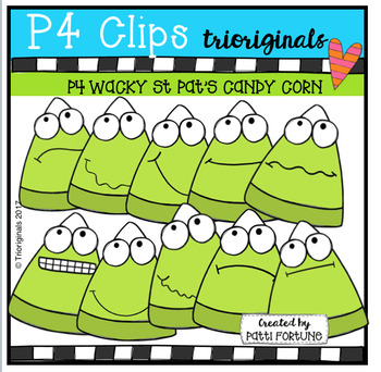 P4 WACKY St Pat's Candy Corn COLOR ONLY (P4 Clips Trioriginals)
