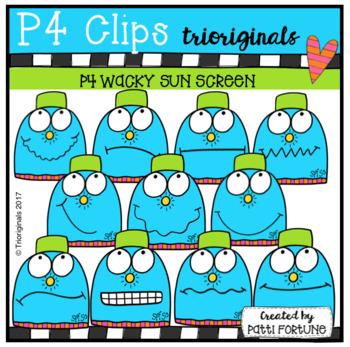 P4 WACKY Sun Lotion (P4 Clips Trioriginals Clip Art)