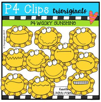 P4 WACKY Sunshine (P4 Clips Triorignals CLip Art)