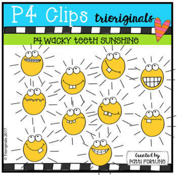 P4 WACKY TEETH Sunshine (P4 Clips Trioriginals Clip Art)