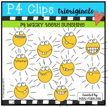 P4 WACKY TEETH Sunshine (P4 Clips Trioriginals Clip Art)