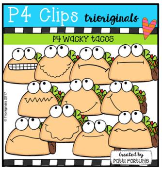 P4 WACKY Tacos (P4 Clips Trioriginals Clip Art)