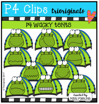 P4 WACKY Tents (p4 Clips Trioriginals Clip Art)
