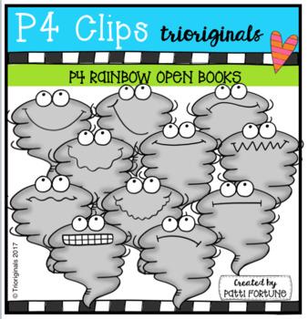 P4 WACKY Tornados (P4 Clips Trioriginals Clip Art)