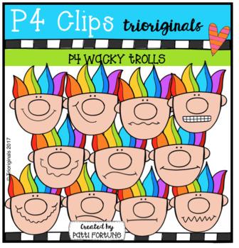 P4 WACKY Trolls (P4 Clips Trioriginals Clip Art)