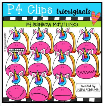 P4 WACKY Unicorns (P4 Clips Trioriginals Clip Art)