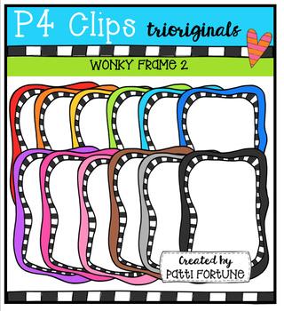 P4 WONKY Frames 2 (P4 Clips Trioriginals Digital Clip Art)