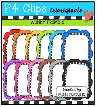 P4 WONKY Frames 5 (P4 Clips Trioriginals Digital Clip Art)
