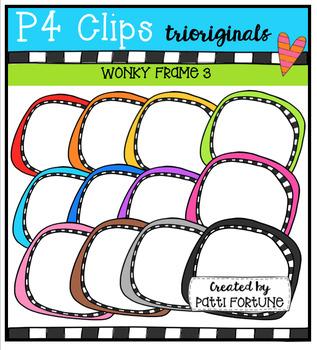 P4 WONKY Frames (P4 Clips Trioriginals Digital Clip Art)